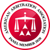 2020 american Arbitration Association panel member